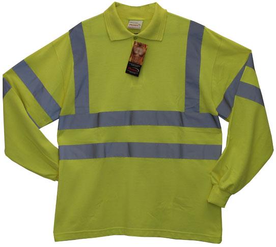 bodyguard-Polo-Shirts-Protex-Antistatic-FR-Hi-Vis-L/Sleeve-Polo-Shirt