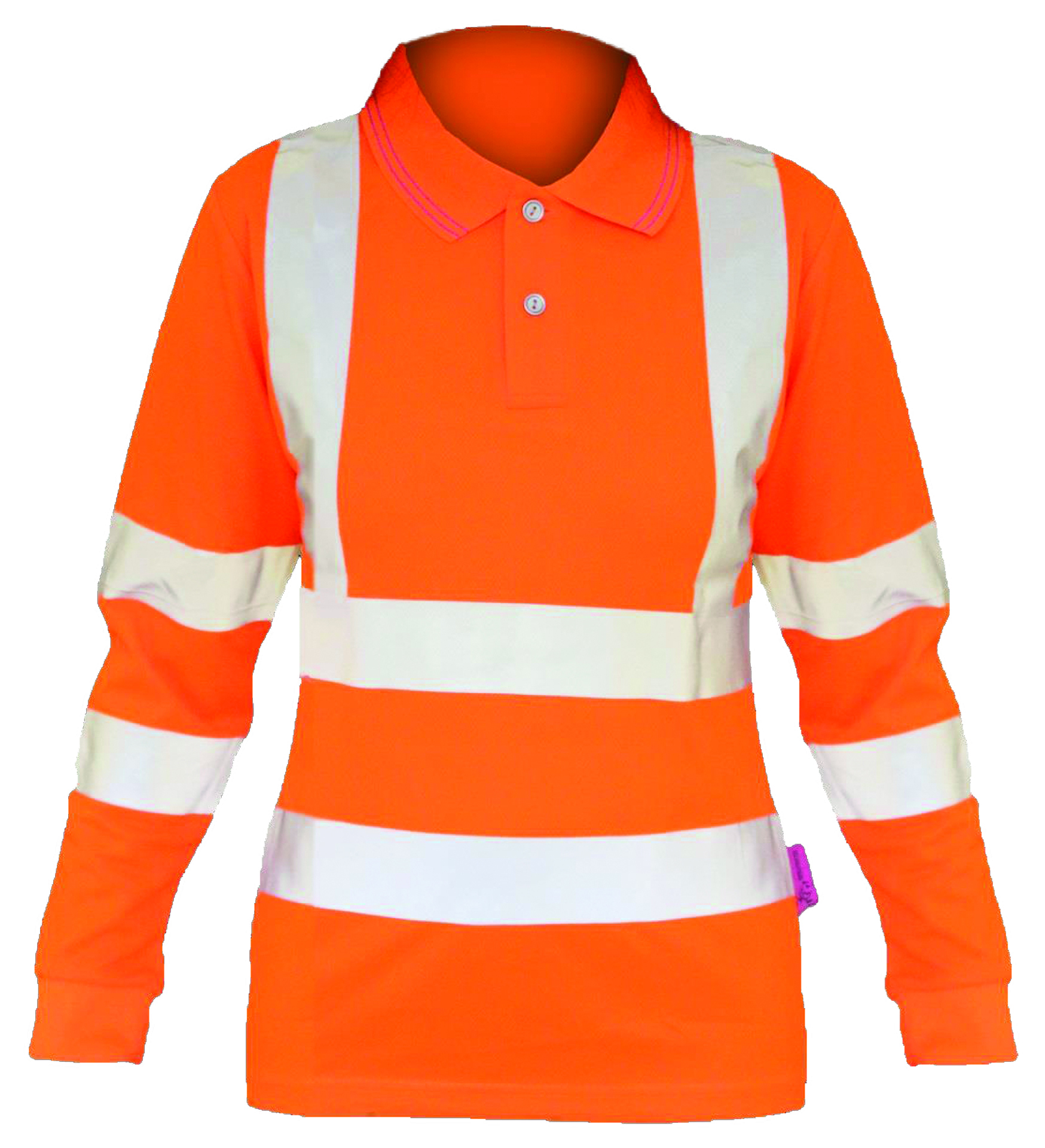 bodyguard-Ladies-Ladies-Hi-Vis-Rail-L/S-Polo-Shirt