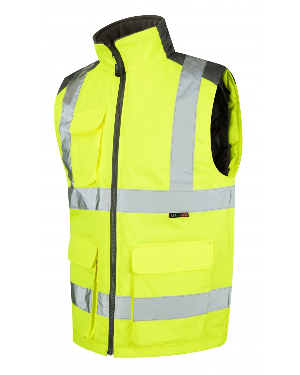 bodyguard-Bodywarmers-Yellow-PU-Coated-Polyester-Bodywarmer