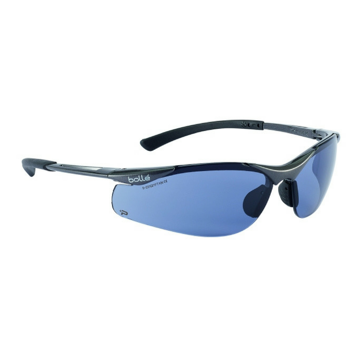 Bundle of 3 Bolle Bandido Safety Clear Polycarbonate Glasses with Strap