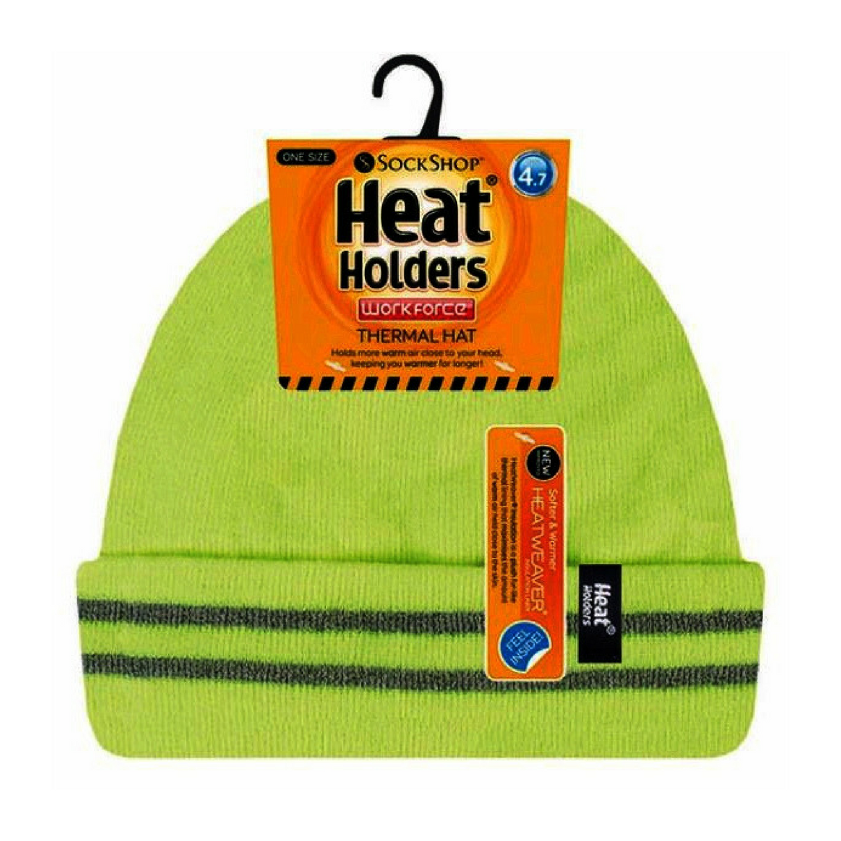 18eeef7dadc Heat Holders - Mens hi vis reflective outdoor winter thermal knitted high  visibility turnover hat