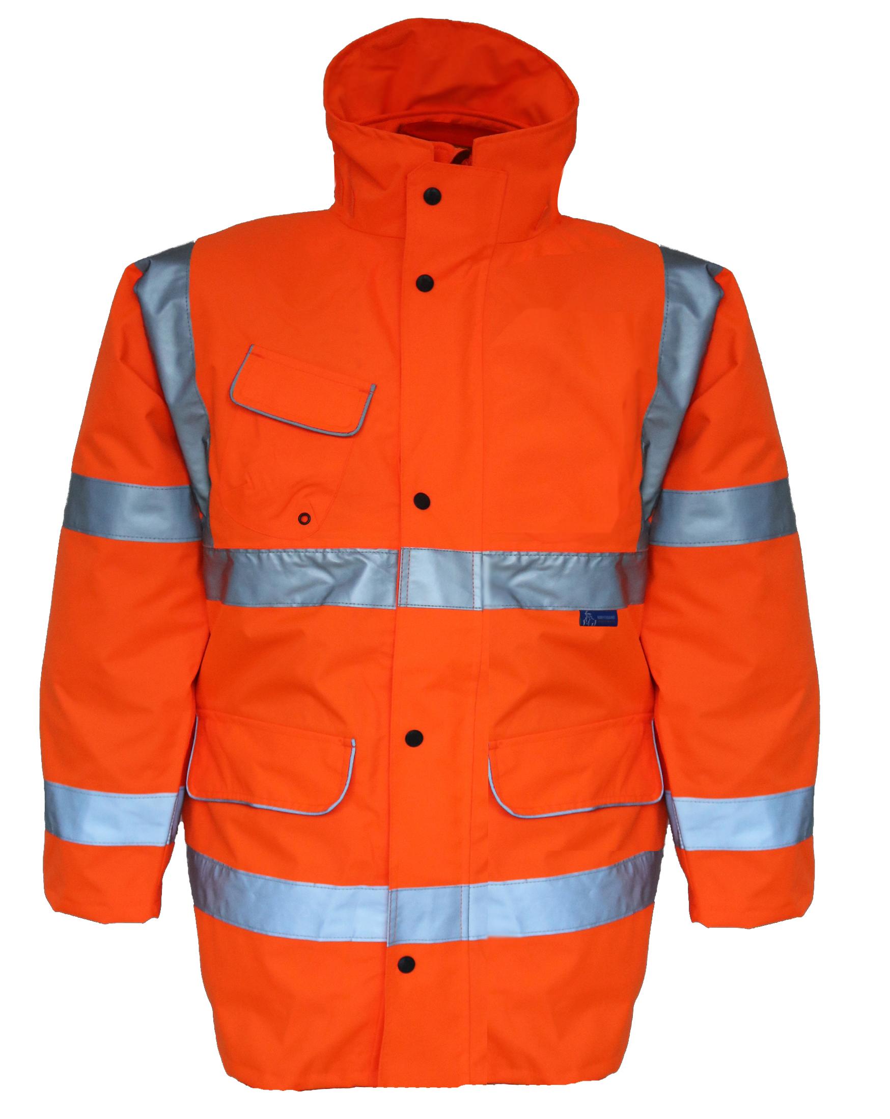 GN110B Hi Vis Rail Storm Coat