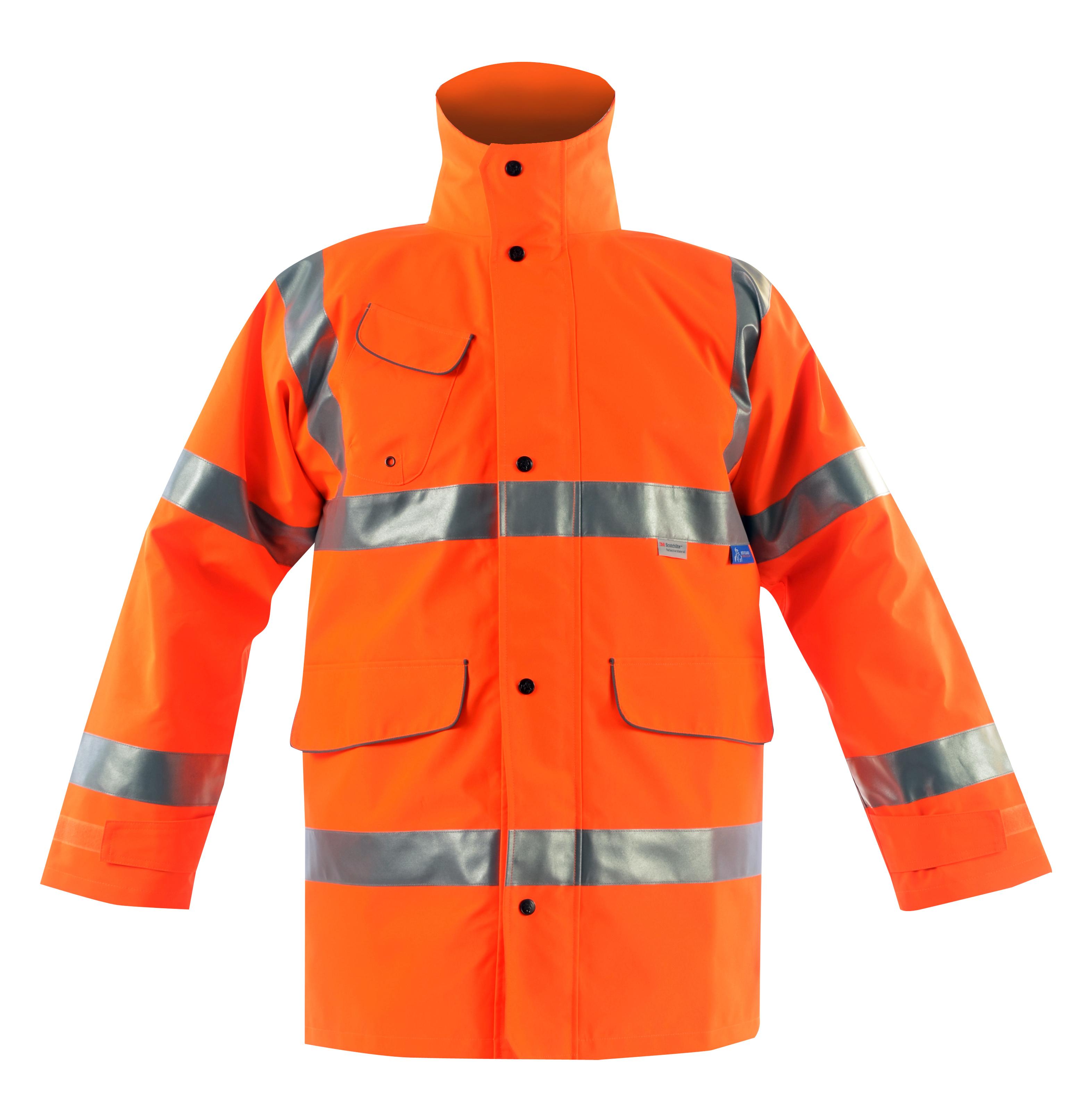 Vapourking Hi Vis Rail Storm Coat & Fleece Chin Guard
