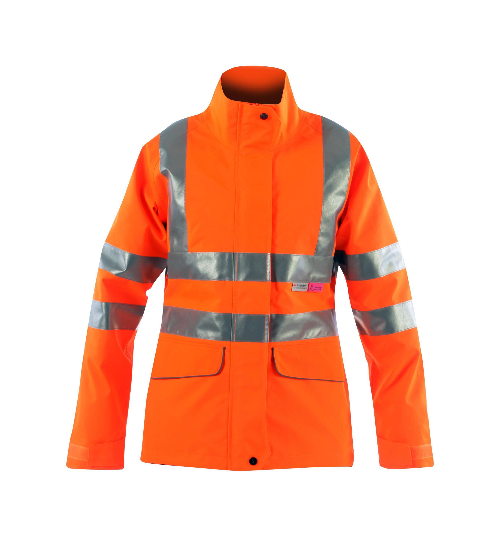 Vapourking Hi Vis Ladies Storm Coat & Fleece Chin Guard