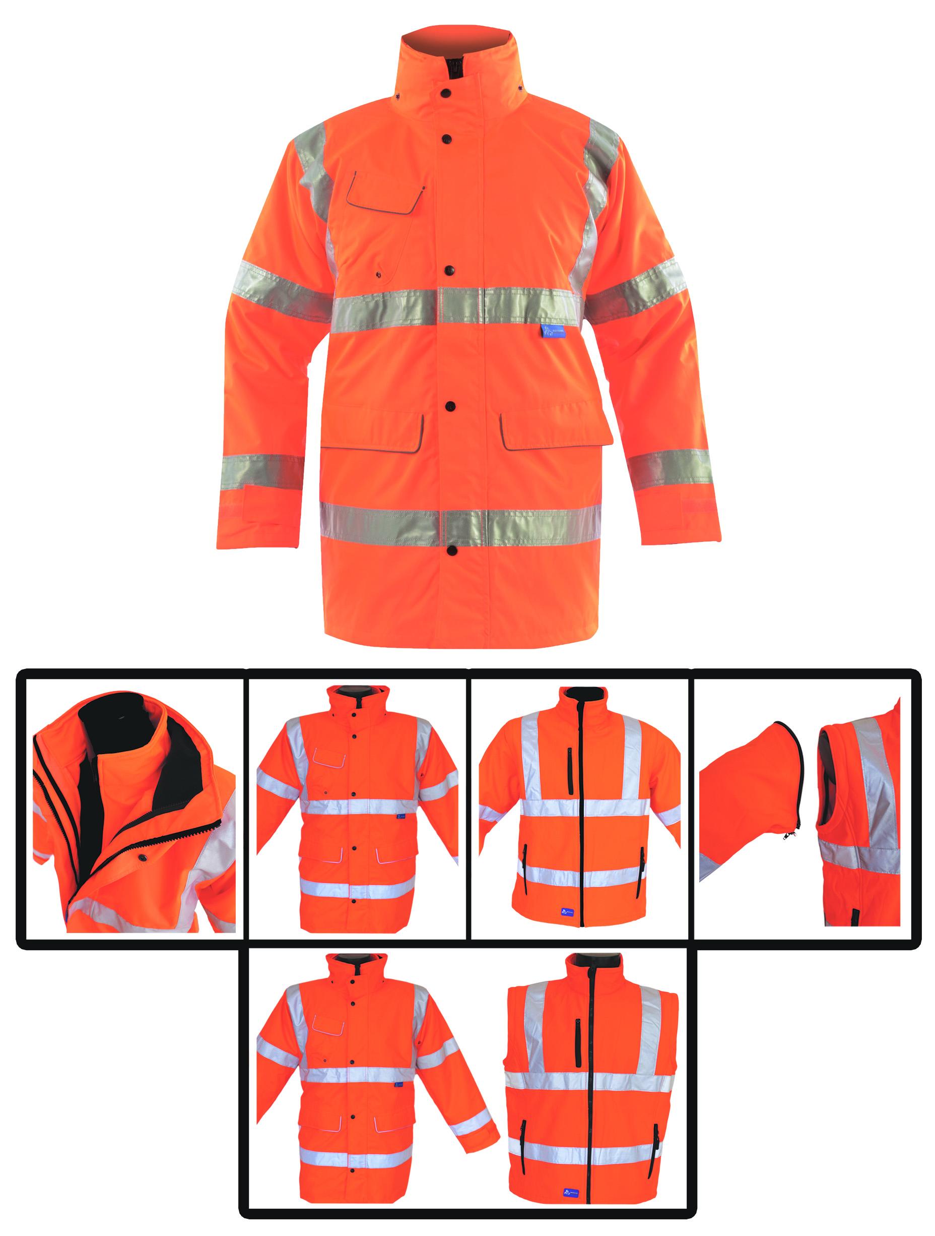 GN115 Multi Way Rail Coat w/ Removable hood & Fleece lined collar - 1