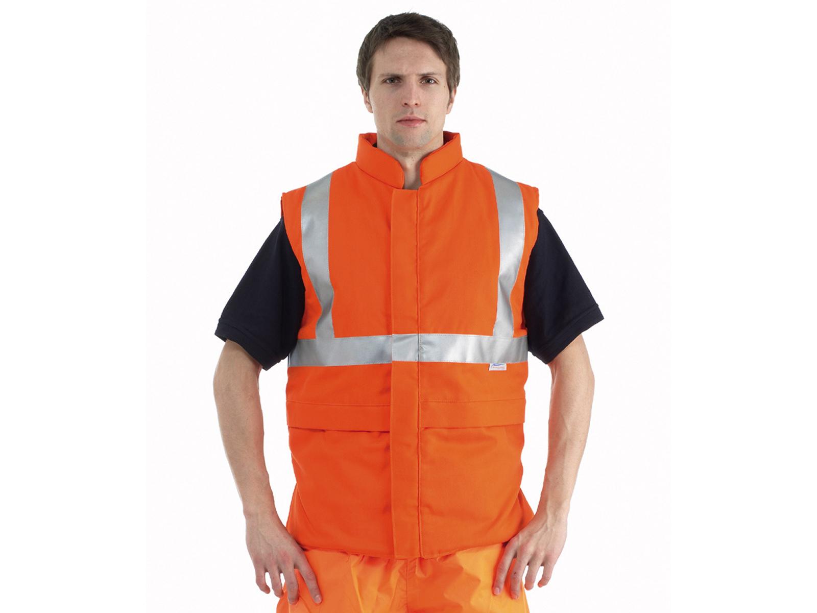Flame Retardant Bodyguard High Vis Orange Bodywarmer