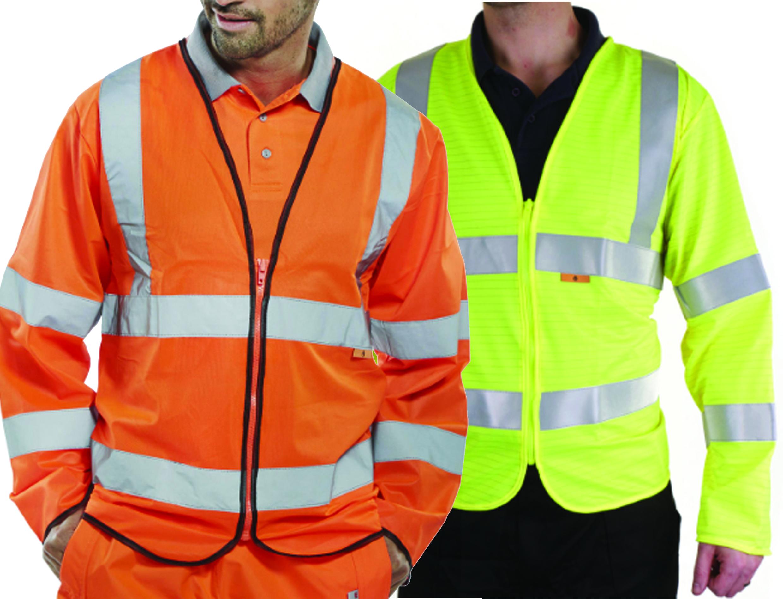 Flame Retardant High Vis L/Sleeve Vest w/ Hook and loop closure