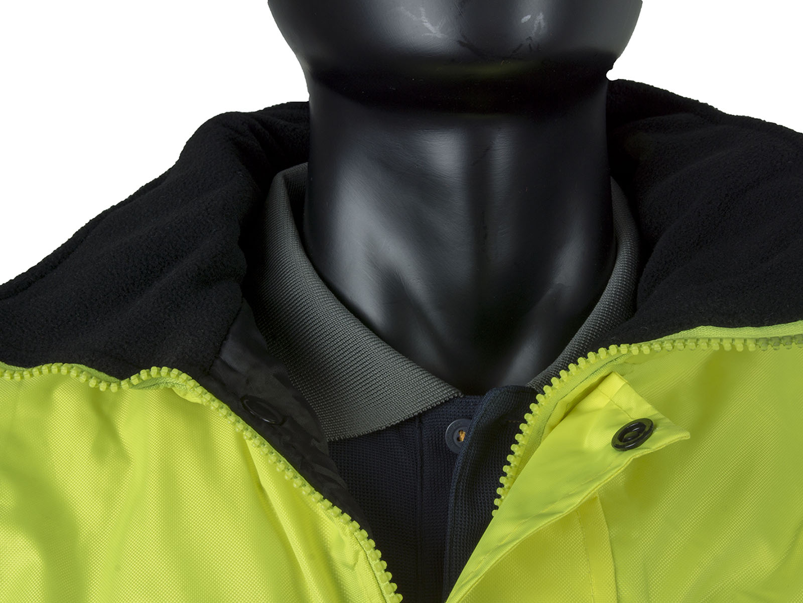 High Visibility Waterproof Bomber Jacket w/ Heavy Duty Zip & Storm Flap - 2