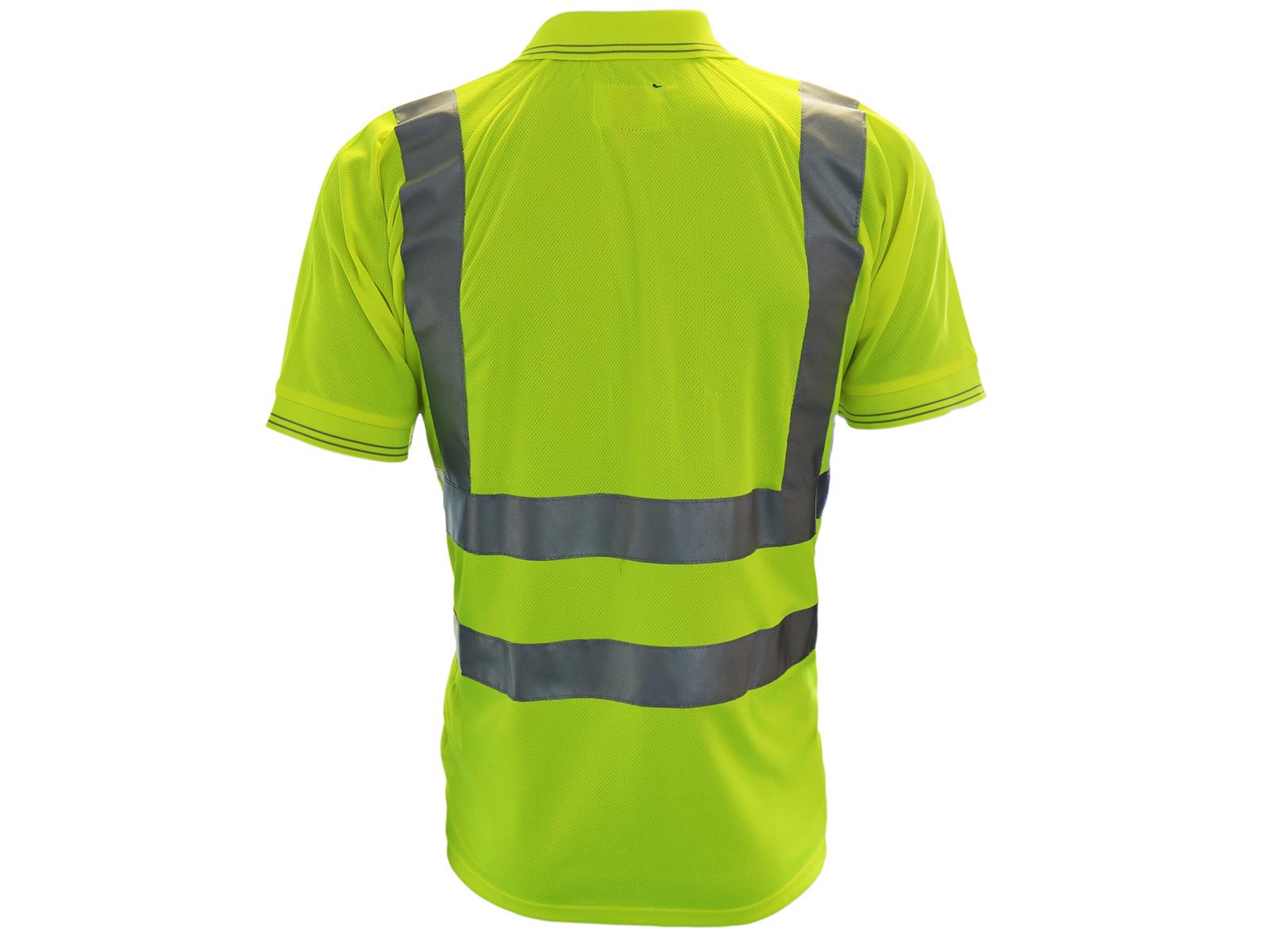 High Vis Short Sleeve Bodyguard Yellow Polo Shirt
