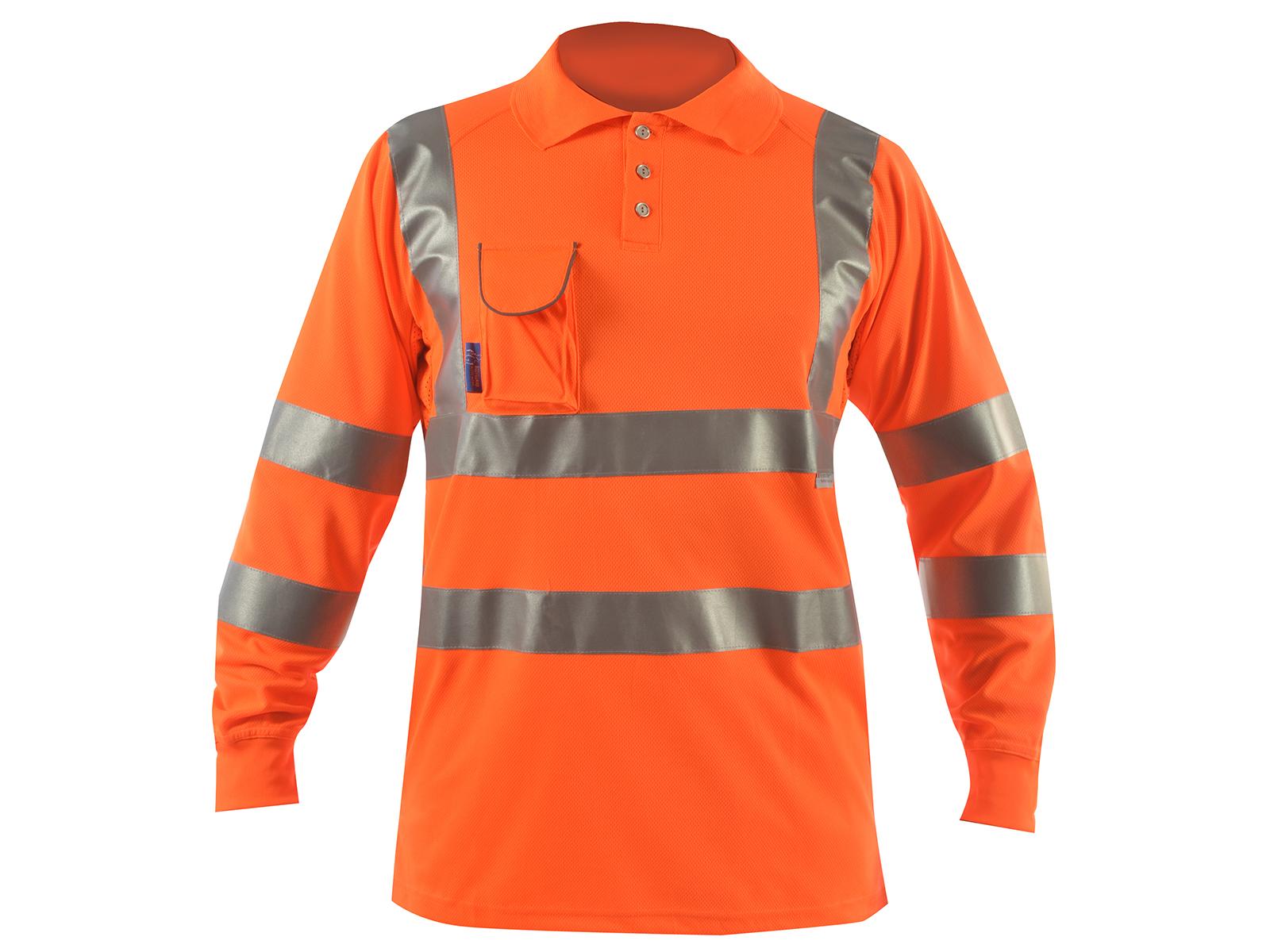 Long Sleeve Hi Vis Polo Shirt Bodyguard