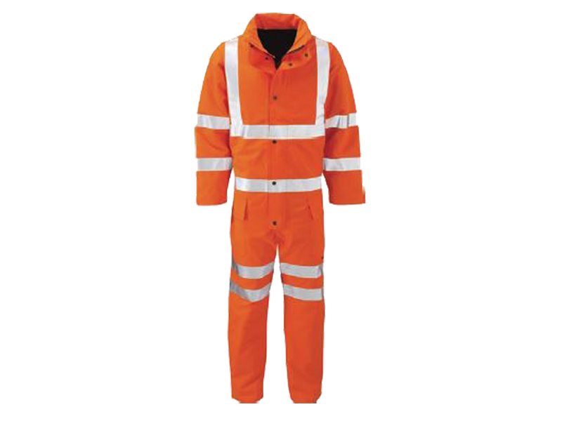Gore-tex Lined High Vis Coveralls Orange w/ quilt padded lining & enhanced breath-ability