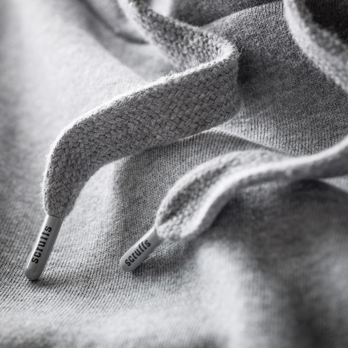 Scruffs Worker Hoodie Grey w/ Reinforced elbows  & adjustable hood