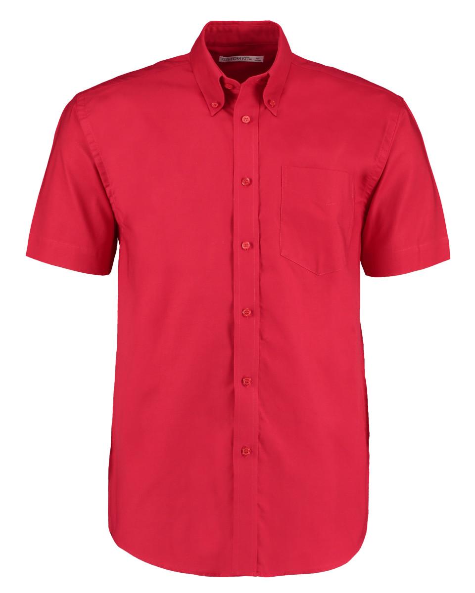 Kustom Kit Men's Workwear Short Sleeve Oxford Shirt - Ideal for embroidery