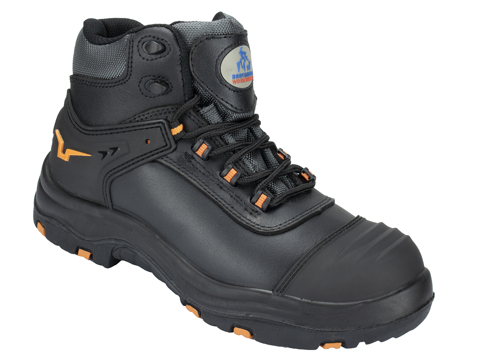 Dynamic leather safety boot w/ Padded Ankle Support and Tongue for Extra Comfort - side