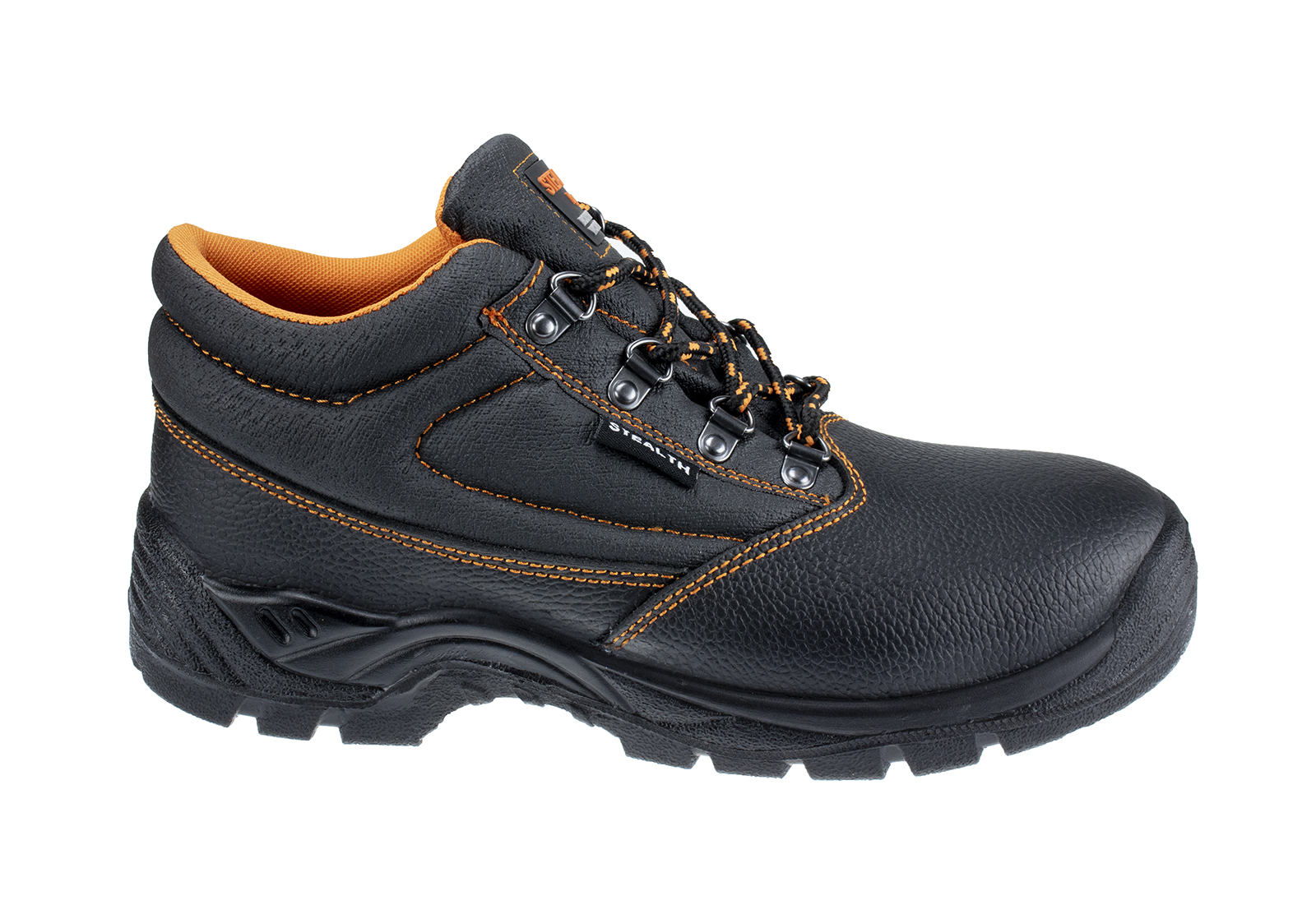 Stealth Leather Safety Boot w/ Padded collar & Dual density PU Sole - main