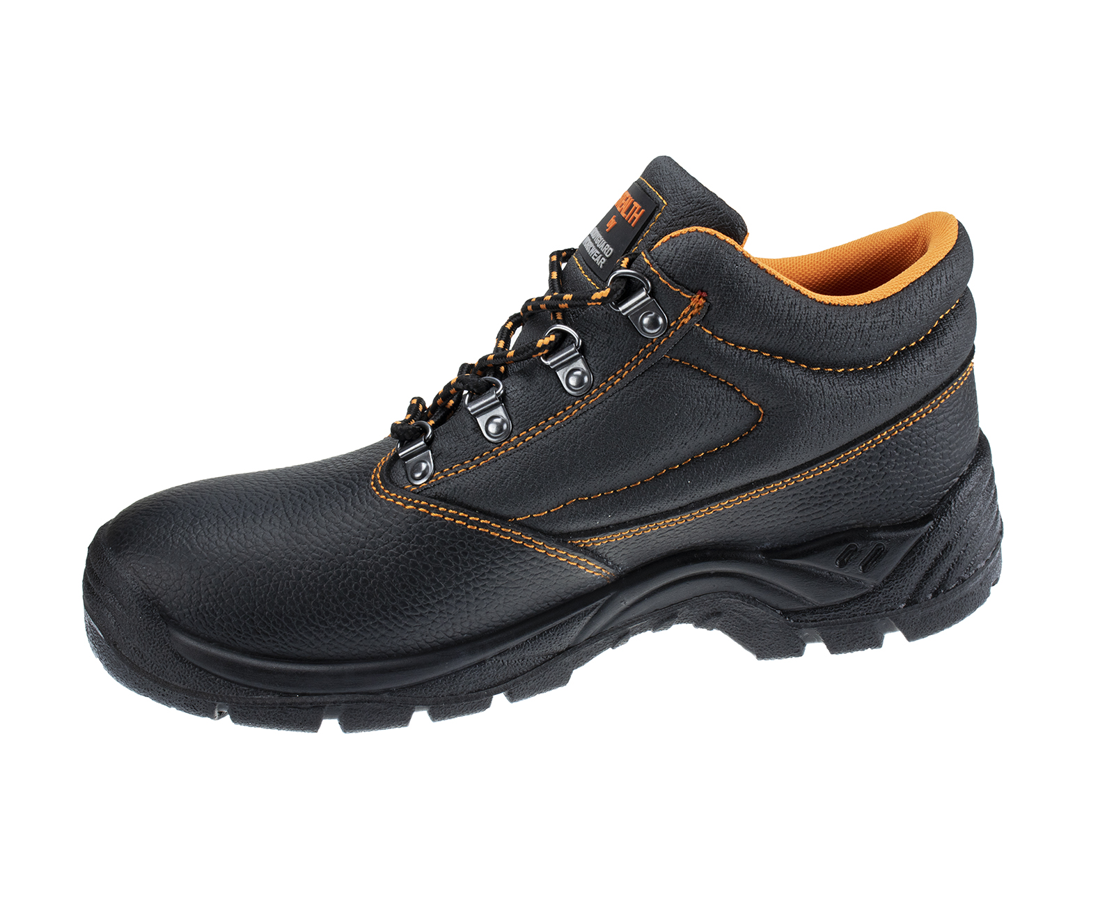 Stealth Leather Safety Boot w/ Padded collar & Dual density PU Sole  - 2