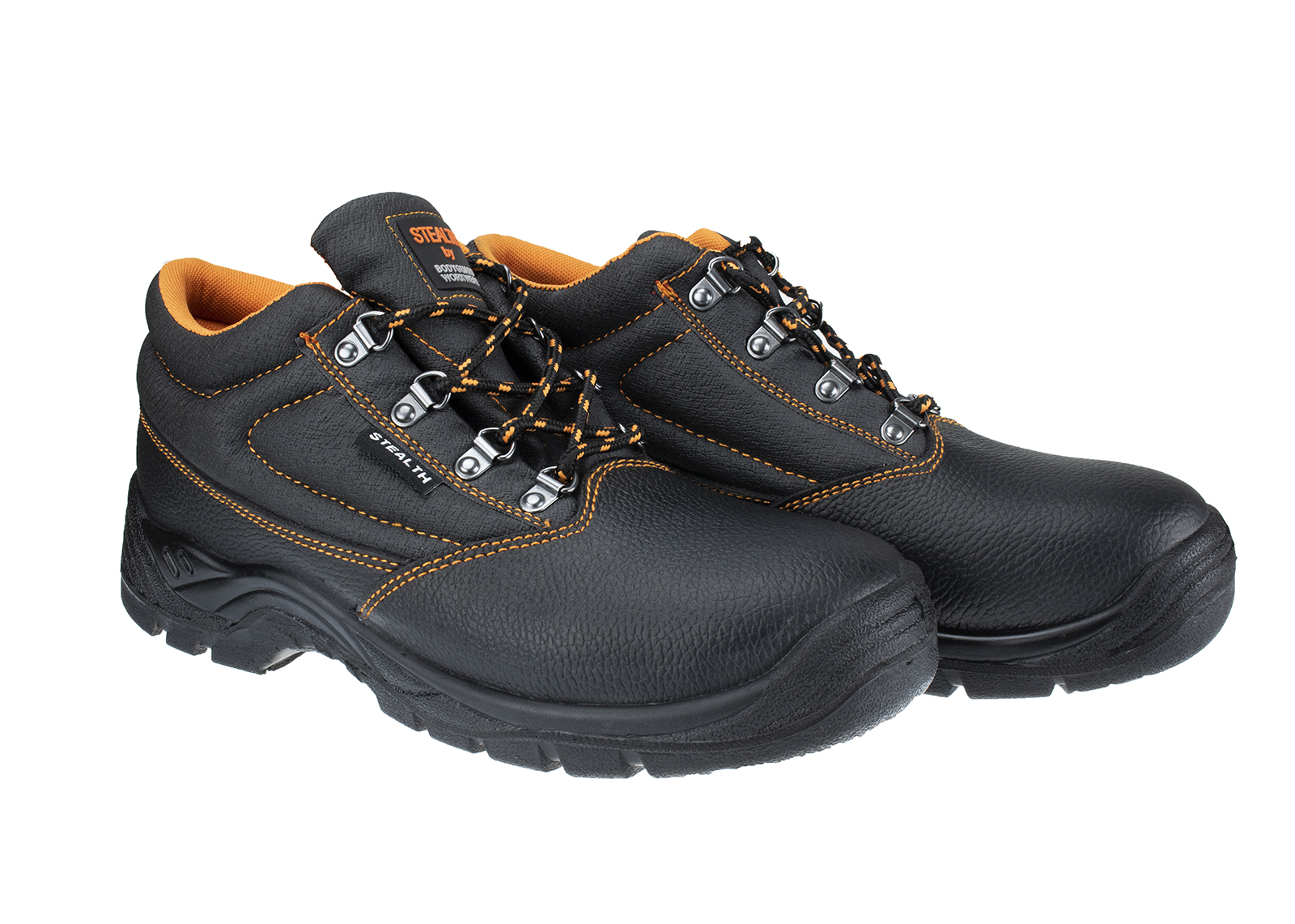 Stealth Leather Safety Boot w/ Padded collar & Dual density PU Sole - 3