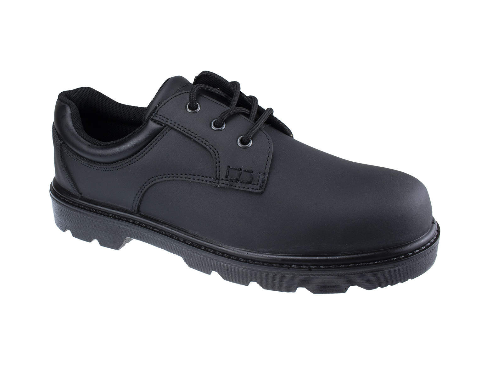Oxford Executive Leather Safety Shoe w/ Padded collar for Ankle Support