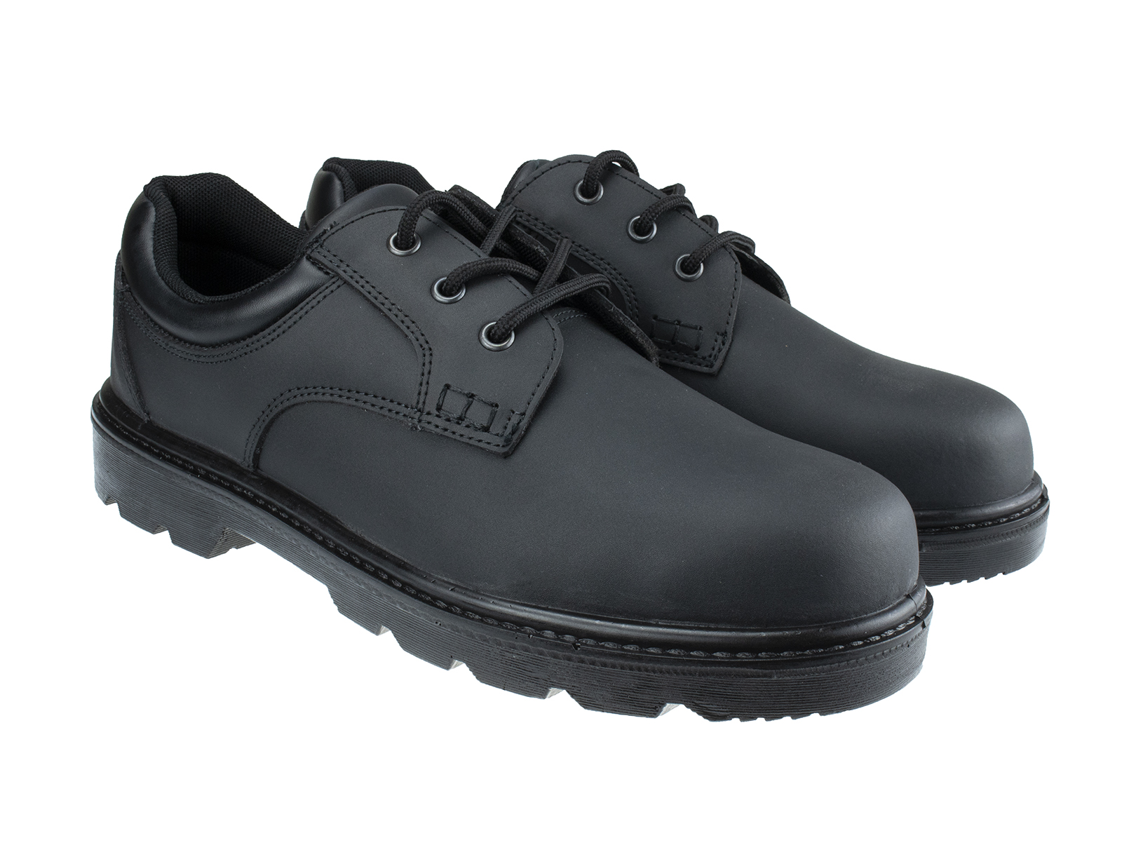 Oxford Executive Leather Safety Shoe w/ Padded collar for Ankle Support  - pair