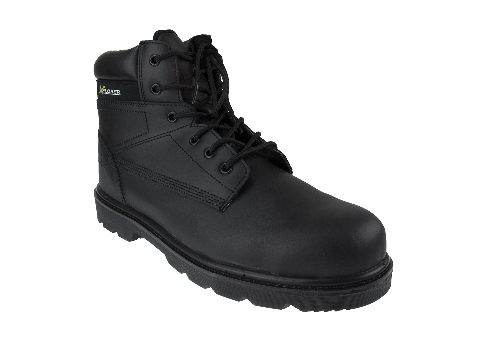 Xplorer Leather Safety Boot w/ Padded ankle support and protection - side