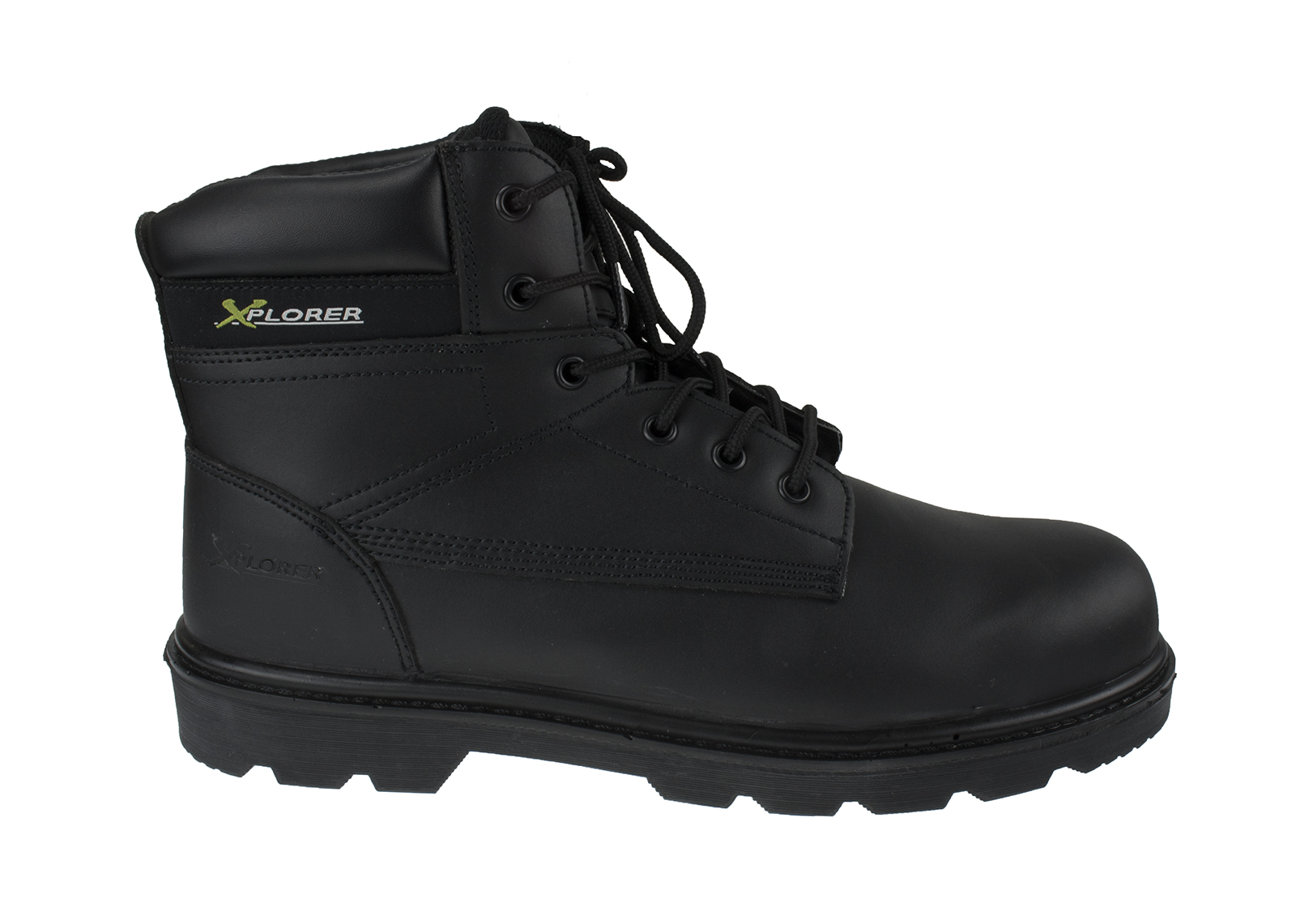 Xplorer Leather Safety Boot w/ Padded ankle support and protection - pair