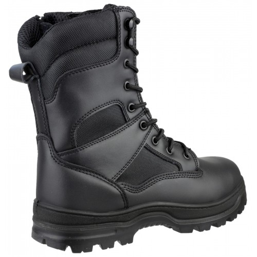 WATER RESISTANT HI-LEG LACE UP SAFETY BOOT WITH STEEL TOECAP AND MIDSOLE