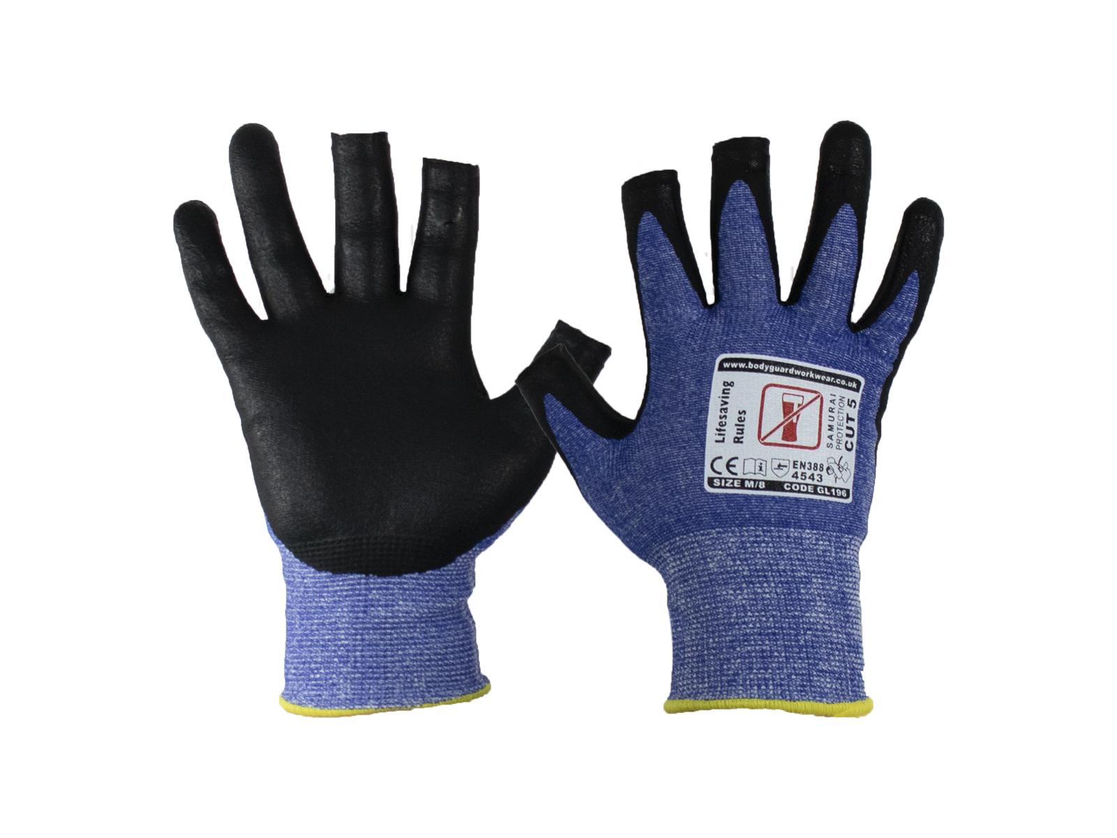 3 Digit Samurai Lite Cut 5 Safety Glove w/ fingertip contact -2