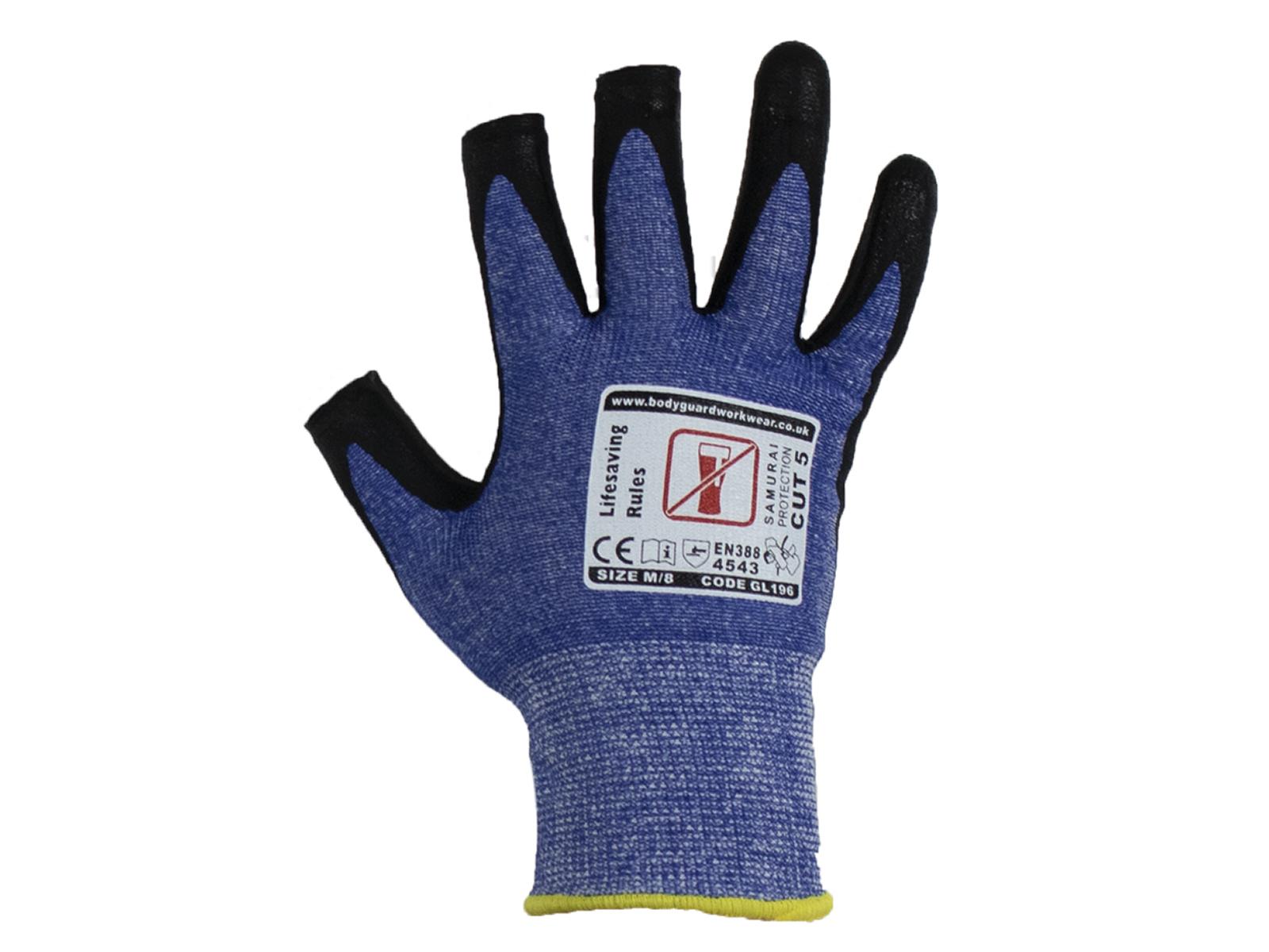 3 Digit Samurai Lite Cut 5 Safety Glove w/ fingertip contact