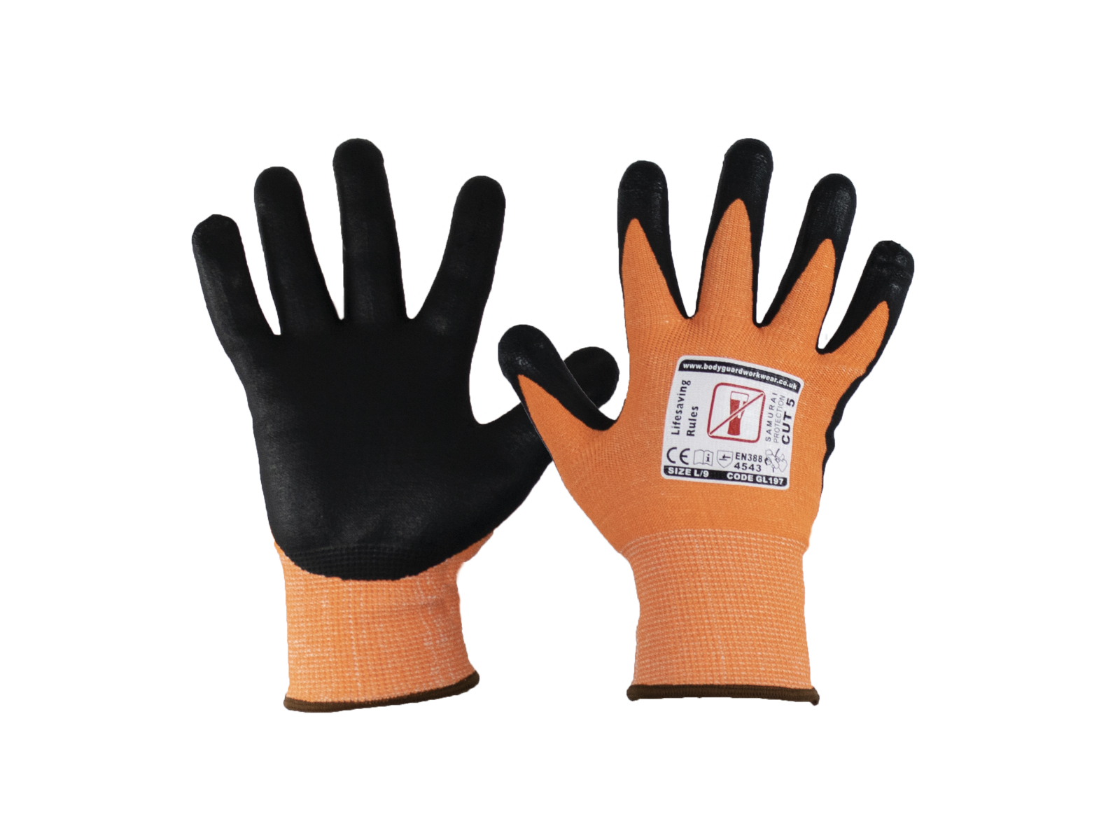 Samurai Lite Cut 5 Safety Glove w/ Touch Screen Technology - Multipack 2