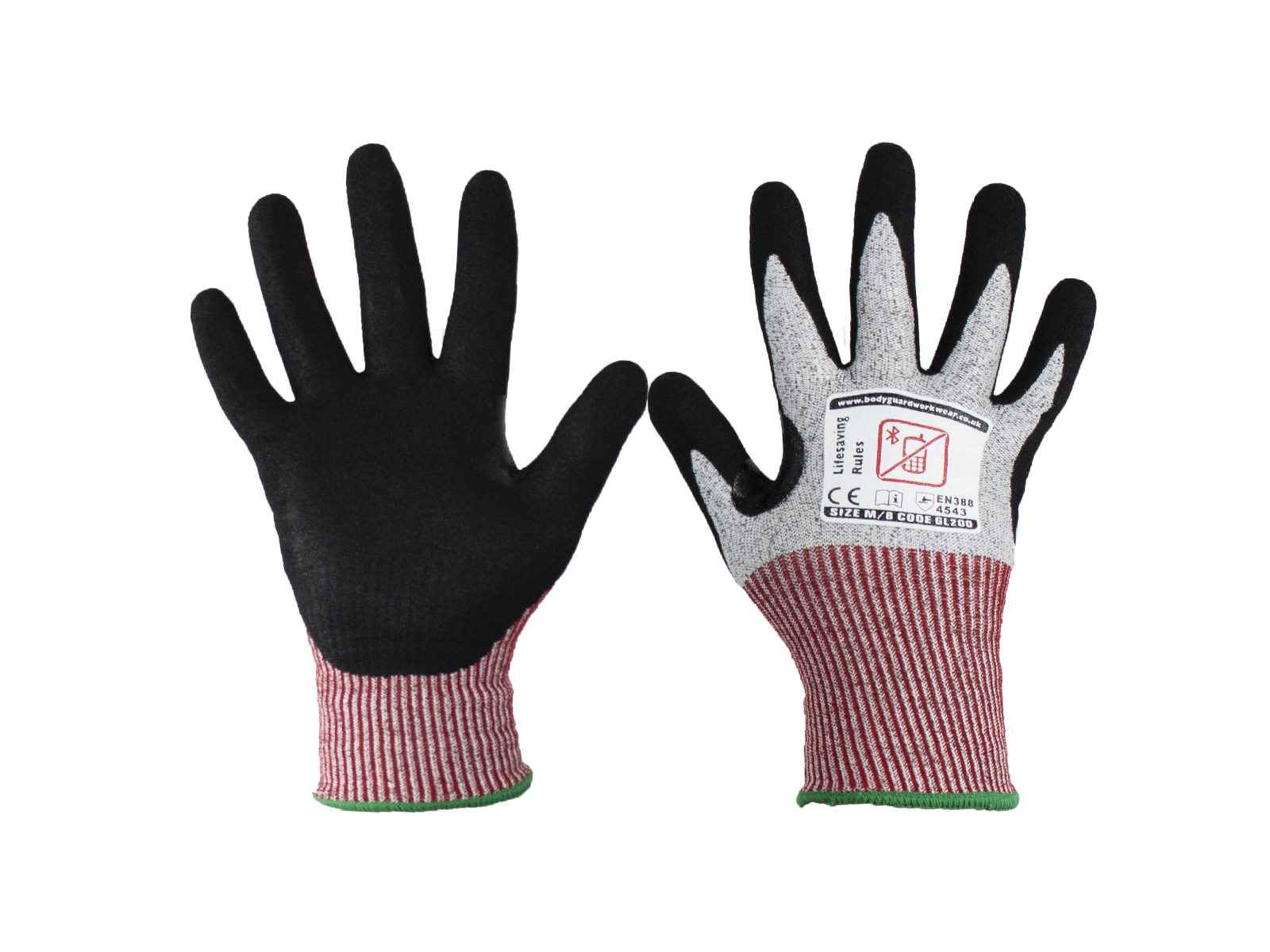 Samurai Protection Cut 5 Safety Gloves w/ excellent grip in wet, dry and oily application -2