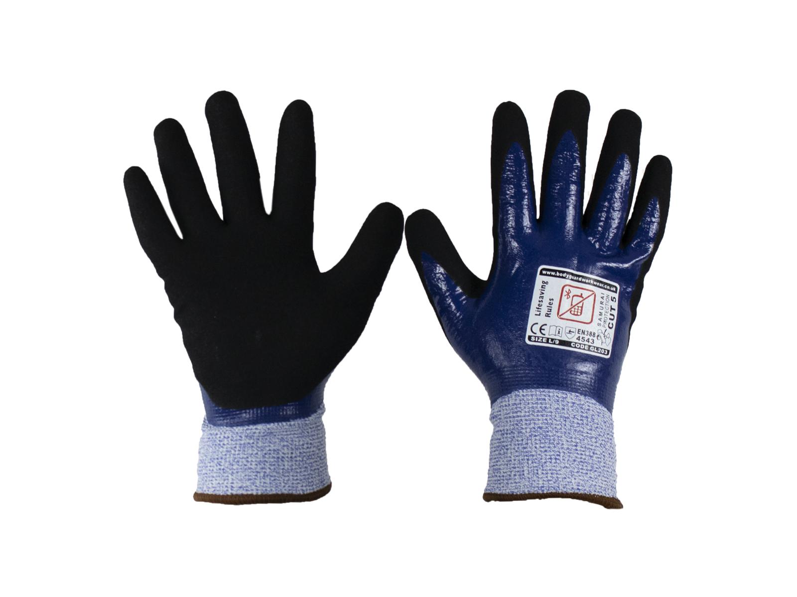 Samurai GL203 Thermo Wet Cut 5 Safety glove w/ Fleece Liner