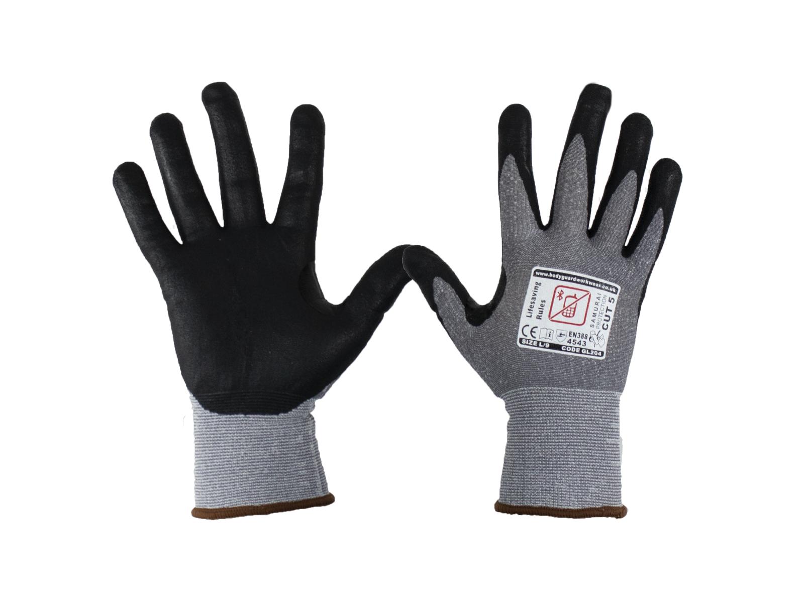 Samurai Super lite Cut 5 Safety Gloves w/ Touch Screen Technology - Multipack