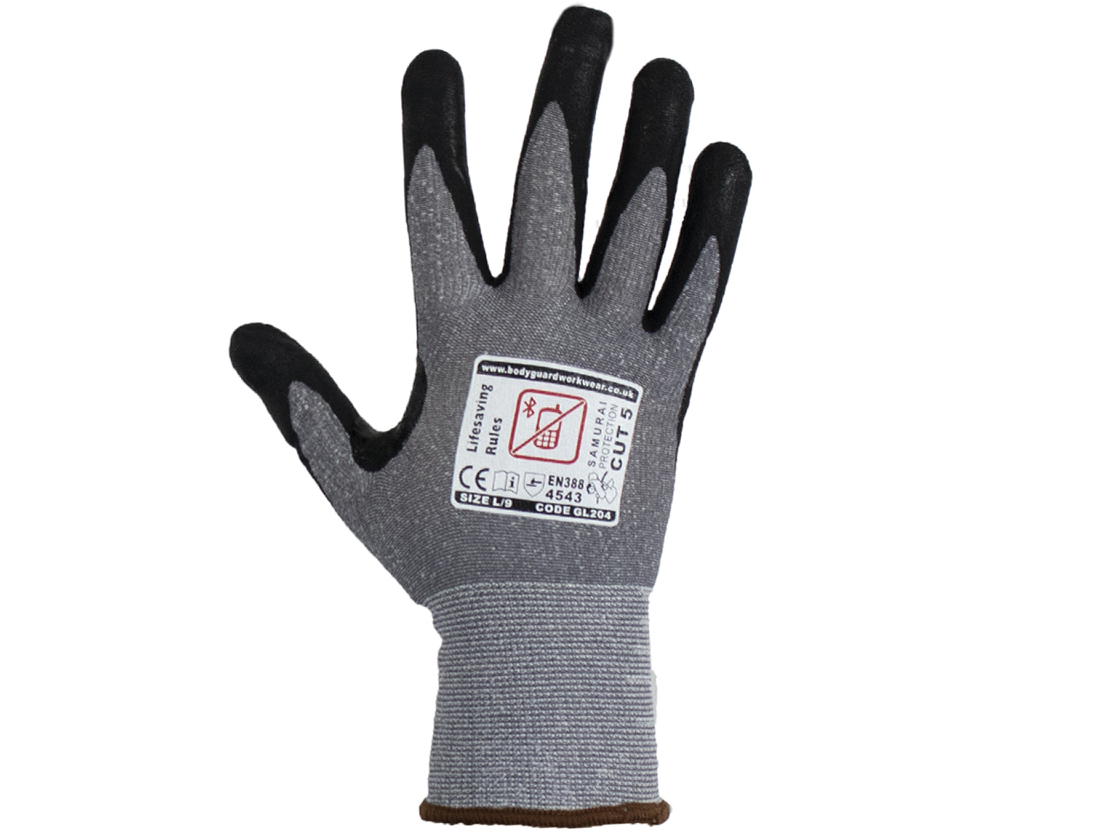 Samurai Super lite Cut 5 Safety Gloves w/ Touch Screen Technology