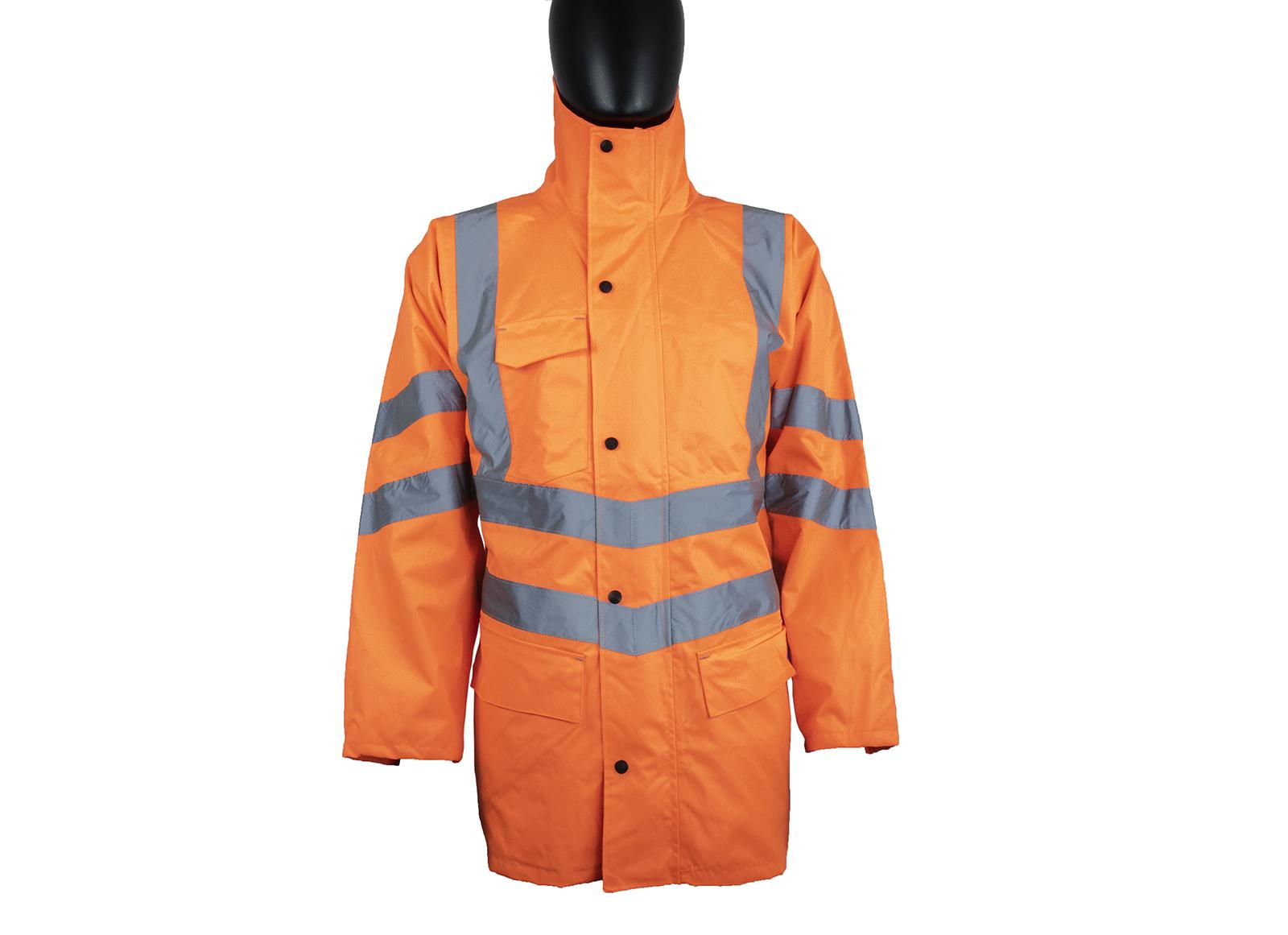 Railguard Waterproof Storm Coat w/ Contoured neckline with storm collar