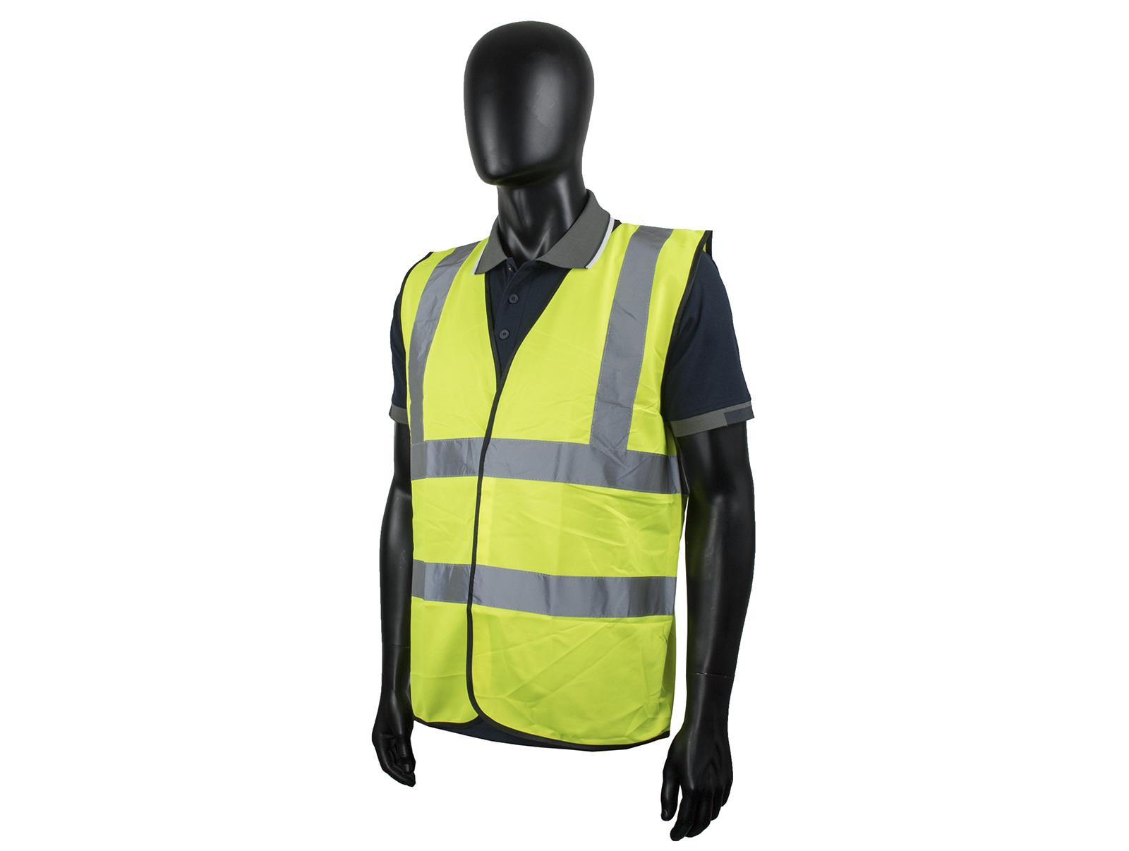 Yellow High Vis Vest W/ High Quality Reflective Tape-1