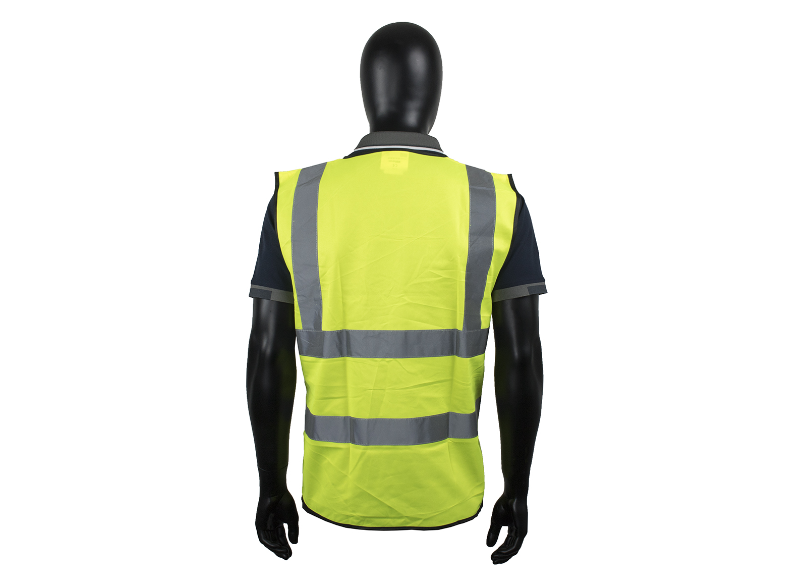 Yellow High Vis Vest W/ High Quality Reflective Tape-2