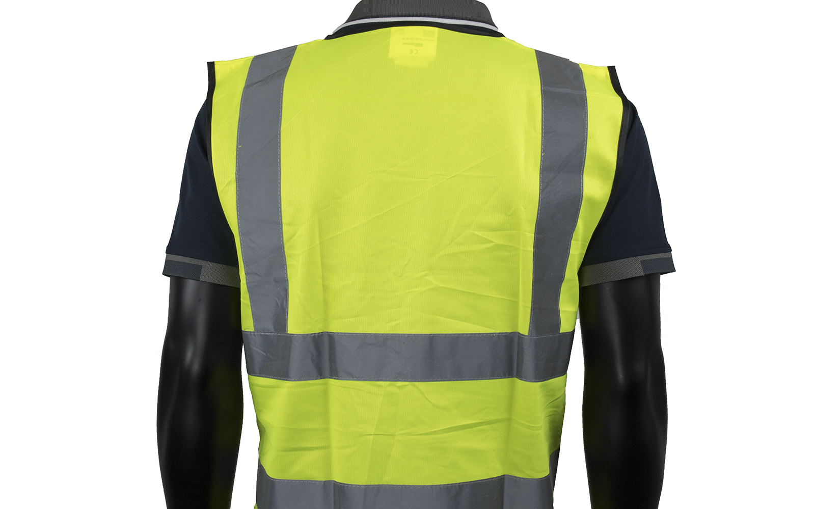 Yellow High Vis Vest W/ High Quality Reflective Tape-3