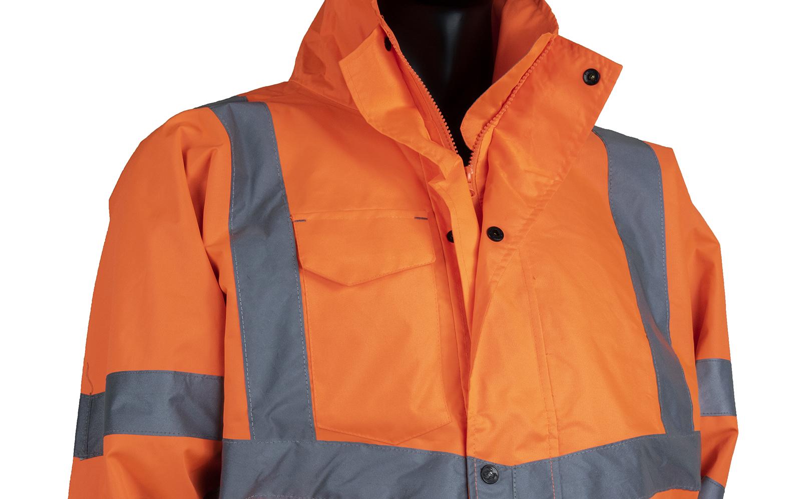 Railguard Waterproof Bomber Jacket W/ Contoured Neckline With Storm Collar