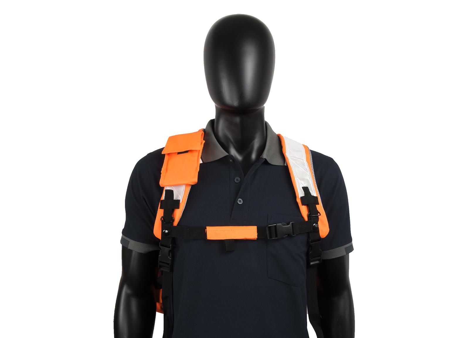 High Vis Backpack Work Rucksack w/ Anti-Entanglement System & Reflective Stripes -1