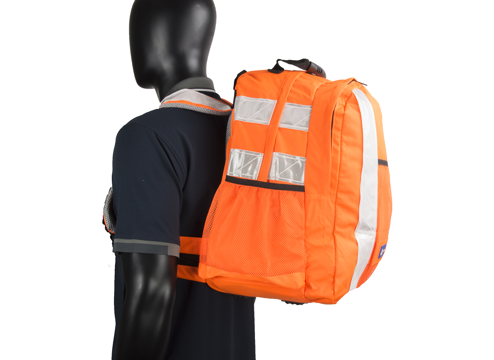 High Vis Backpack Work Rucksack w/ Anti-Entanglement System & Reflective Stripes -4