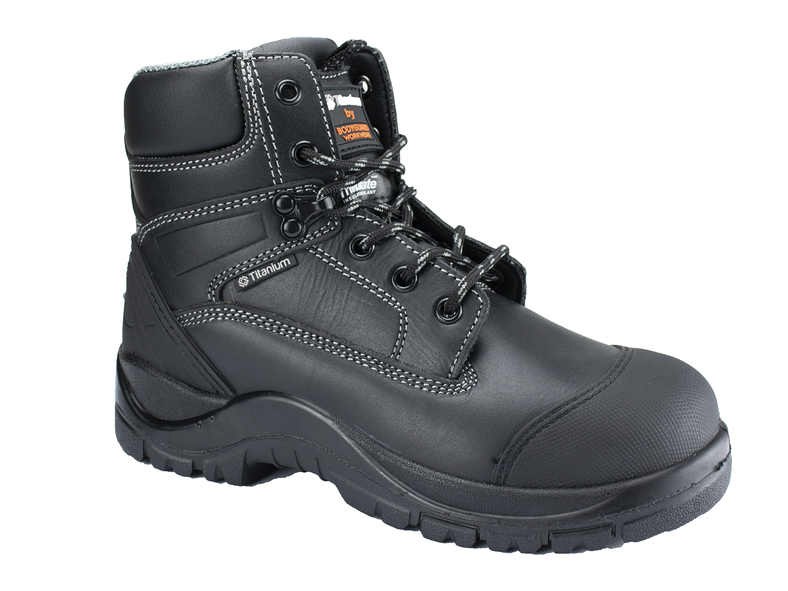 Titanium Leather Safety Boots