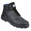 Himalayan Black Leather Safety Boot With Steel Midsole & Toecap
