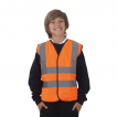 Children high visibility vest w/ Reflective tape & Hook and loop closure