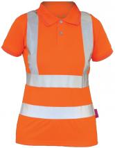 Polo-Shirts-Ladies-Hi-Vis-Rail-S/S-Polo-Shirt