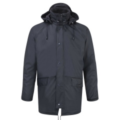 Fleece Lined Flex Waterproof Jacket Navy