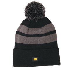 Mens & Womens Caterpillar Black Aspen Cap Knit Stripes