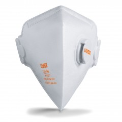 Uvex FFP2 Fold Flat Valved Mask Classic Range Box of 15