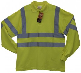 Protex Antistatic FR Hi Vis L/Sleeve Polo Shirt