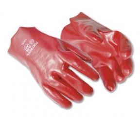 PVC Red Gauntlet w/ comfortable interlock lining