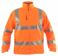 Rail High Viz Softshell Jacket w/ Windproof, breathable and water-resistant fabric